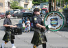 Hudson Valley Regimental Police Pipes Drums march down Broadway in the City of Newburgh during the annual Memorial Day Parade.
