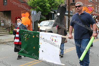 4-H Club marches down South Street in the City of Newburgh Third Anuual Youth Pride Parade, held on Saturday, May 17, 2008