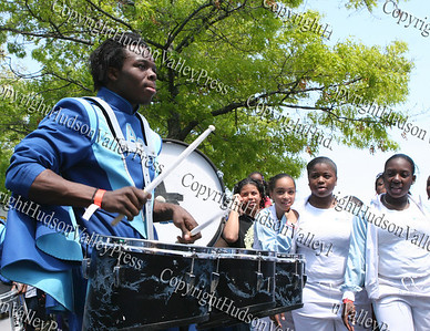 Approaching Storm Band participates in the City of Newburgh Third Anuual Youth Pride Parade, held on Saturday, May 17, 2008