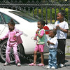 Children enjoy the Third Annual Youth Pride parade as it comes down South Street in the City of Newburgh.