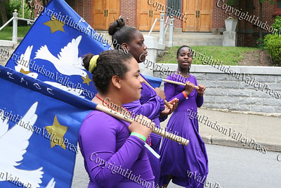 GAMS Dance Ensemble march down South Street in the City of Newburgh during the Third Annual Youth Pride Parade, held on Saturday, May 17, 2008.