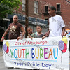 Newburgh youth hold the banner for the City of Newburgh Third Anuual Youth Pride Parade, held on Saturday, May 17, 2008
