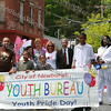 Memebers of the City of Newburgh Youth Bureau with dignitaries march in the City of Newburgh Third Anuual Youth Pride Parade, held on Saturday, May 17, 2008