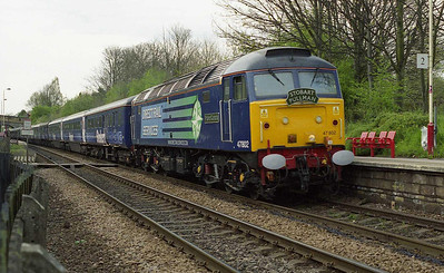 So generous were the timings in fact that I even managed to dive onto another cart out to Woodlesford to intercept 47802 as it made its way through the Leeds suburbs with 1Z49 (26/04/2008)