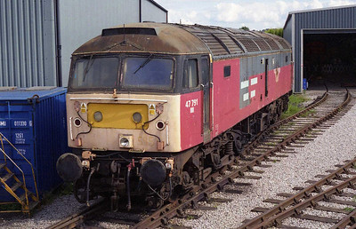 47791 had for some time been abandoned at the now-closed Satley EWS depot in Birmingham. Now owned by HNRC, the loco potentially had a brighter future ahead of it than some of its class-mates present at 'BH' (02/08/2008)