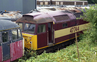 Also present at the depot - but with an equally uncertain future - was former RES sister 47744 (02/08/2008)