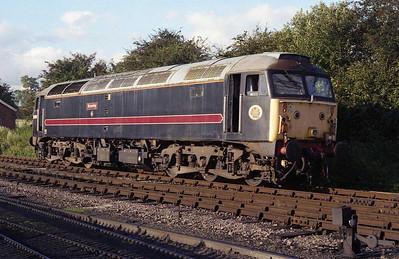 47701 runs round at Toddington before working the 1915 back to Cheltenham (01/08/2008)