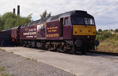 47826 had been adorned on one side with vinyls advertising the 'Scarborough Spa Express', which is operated by its owners. 1Z48 returned to Doncaster via Beighton, Woodburn Junction, Broughton Lane, the Doncaster (north) avoiding line and Kirk Sandall (02/08/2008)