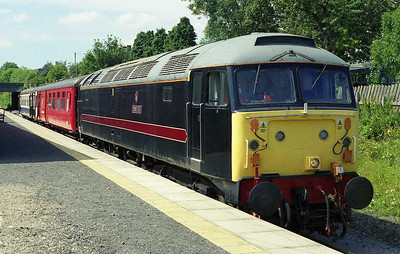 47715 is pictured during the lunch break at Leyburn after working the 1305 from Redmire. Having handled three round trips on the Saturday, the loco was set to perform the same duty today and on Monday and Tuesday. Unfortunately however it failed the follo