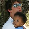 Justin holding Ezekiel.