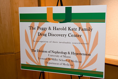 Peggy Katz Luncheon and Tour for Drug Discovery Center of Department of Nephrology & Hypertension University of Miami Leonard M. Miller School of Medicine