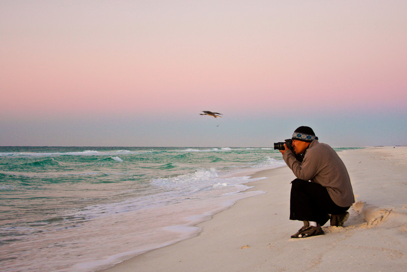 Kelsey and I got up early and shot a few sunrise shots of the Gulf of Mexico.