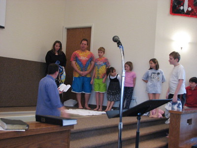 There were six children (David was one of them) that were baptized that morning.