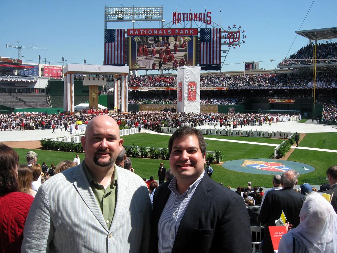 Leyton and Craig after the Mass