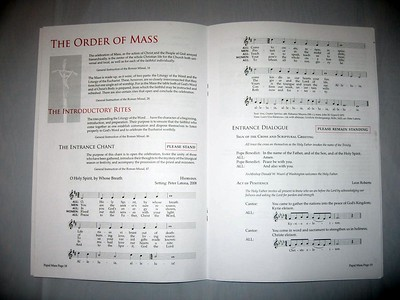 Program for the Papal Mass