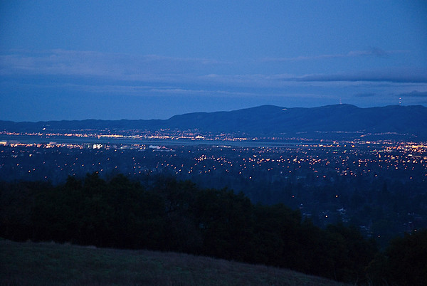 Bay Area at Dusk, from Rancho San Antonio