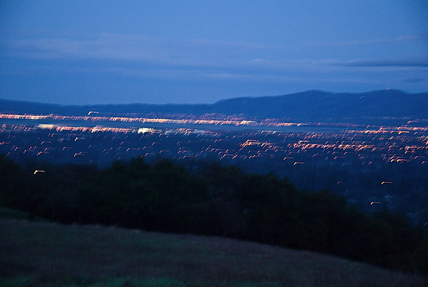 Bay Area Lights at Dusk, from Rancho San Antonio