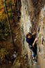 Starting out a fresh day of climbing, Tracy and Jess both warmed up on this 5.6, feeling the pain of yesterdays climbs.