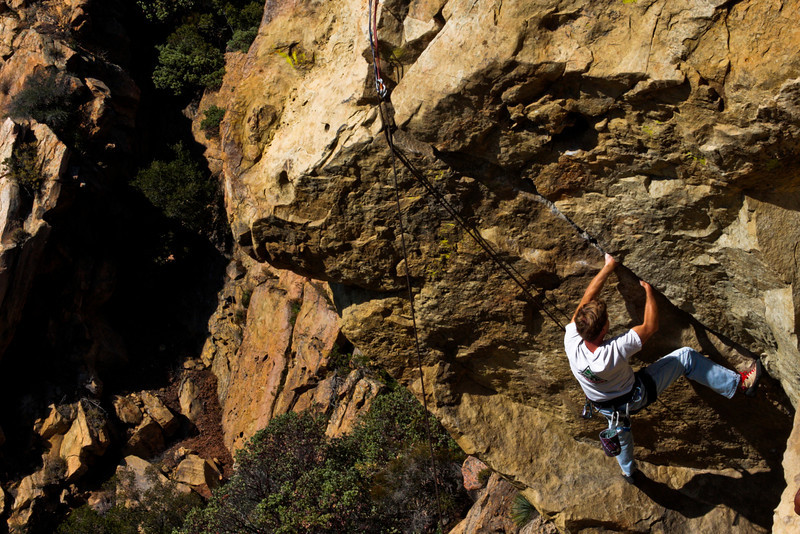 Marc tries his hand at <i>The Nose 5.11b</i>.