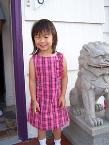 Kaara's first day of school for preschool 4s