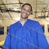 Beacon High School Class of 2008 senior Joshua Davis in the gym prior to graduation.