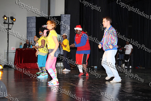 "The group ""Funky Fresh"" performs during NFA's third annual Dancing with the Teachers, held at Newburgh Free Academy on December 12, 2008."