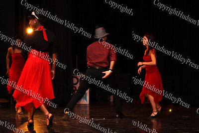 """The group """"Latin Spice"""" performs during NFA's third annual Dancing with the Teachers, held at Newburgh Free Academy on December 12, 2008."""