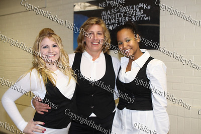 """Members of the group """"Ice, Ice Baby"""" back stage before NFA's third annual Dancing with the Teachers, held at Newburgh Free Academy on December 12, 2008."""