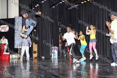 """The group """"Funky Fresh"""" performs during NFA's third annual Dancing with the Teachers, held at Newburgh Free Academy on December 12, 2008."""