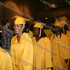 Newburgh Free Academy seniors march into the auditorium for summer commencement exercises on August 21, 2008.