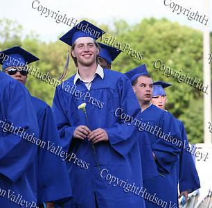 Newburgh Free Academy academic processional of graduates at Dutchess Stadium.