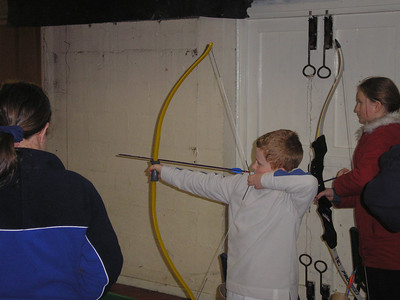 Scouts have a go at Archery