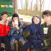 cold, wet, dirty but happy with the hot chocolate
