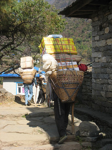 A porter's load, trail to Namche Bazaar