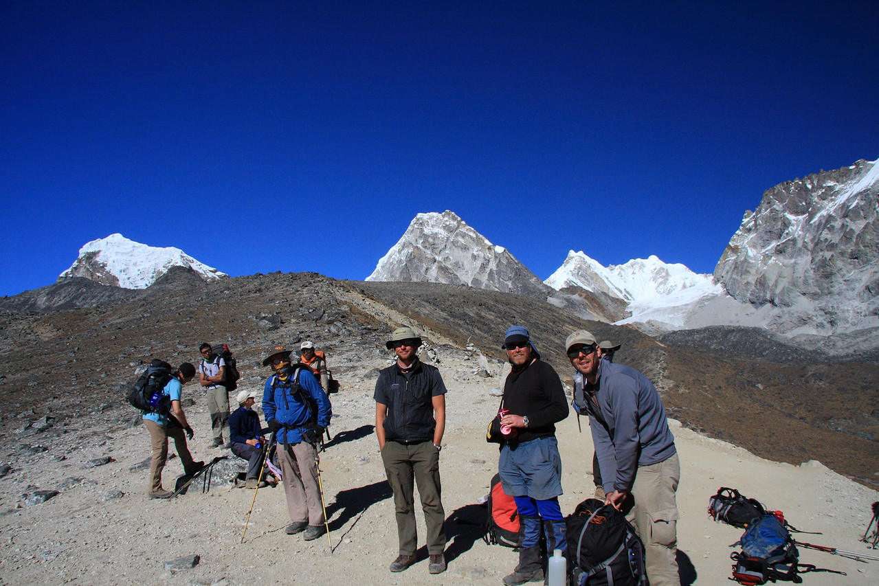 Group after coming down from Cho la pass