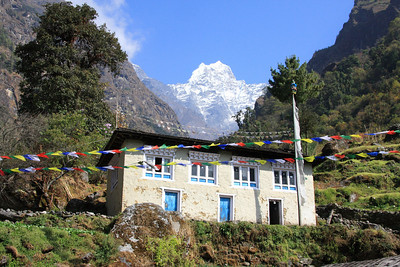Khumbu house with Kusum Kanguru in background