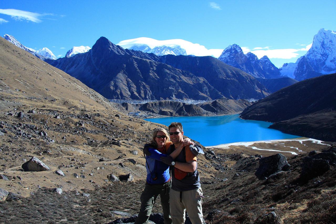 Susan and Sean at Gokyo lakes