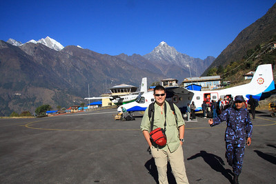 Safe arrival in Lukla airfield ~9500ft