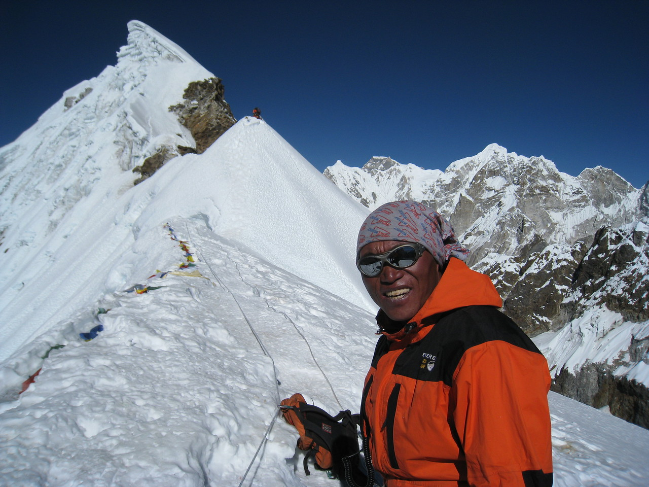 Mingma is an incredibly strong Sherpa and has climbed Everest once.