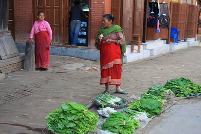 Street vendor Bhaktapur - UNESCO World Heritage Site (Kathmandu, Nepal)