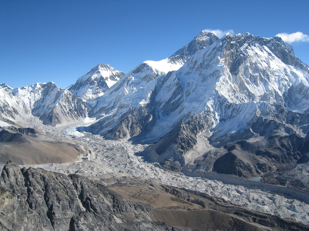 Another breathtaking view of Everest and the Khumbu from the summit of Lobuche East (6119m)