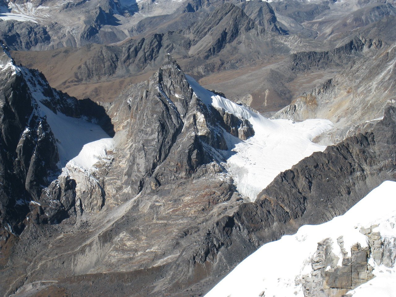 Looking down from summit of Lobuche East 6119m.