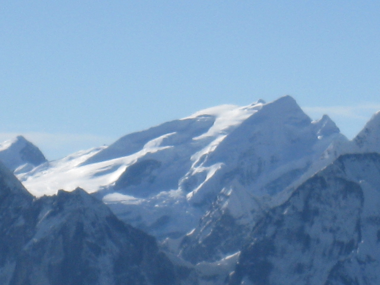 Zoomed image of Mera Peak which Susan climbed on New Years day 2006!