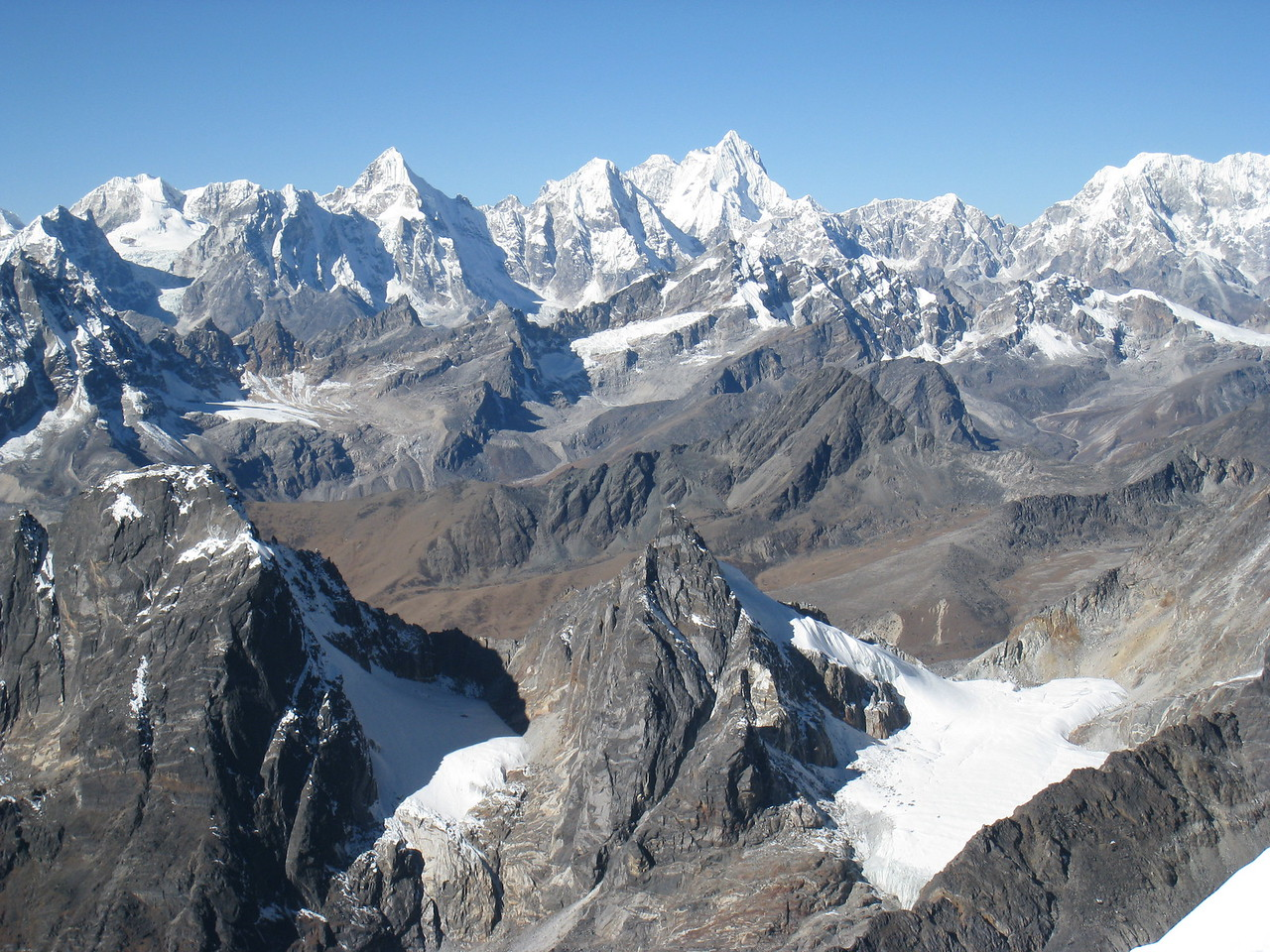 Breathtaking view from summit of Lobuche East (6119m)