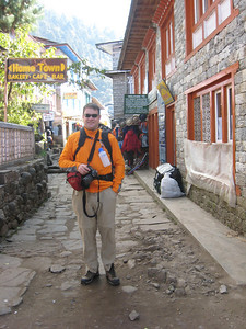 Sean in Lukla after arriving by air