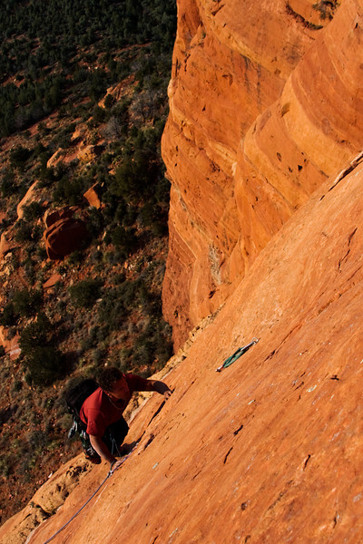 A near featureless slab extends in front of Kelsey, offering a bit of challenge on the final moves of <i>Mars Attacks 5.8</i>.