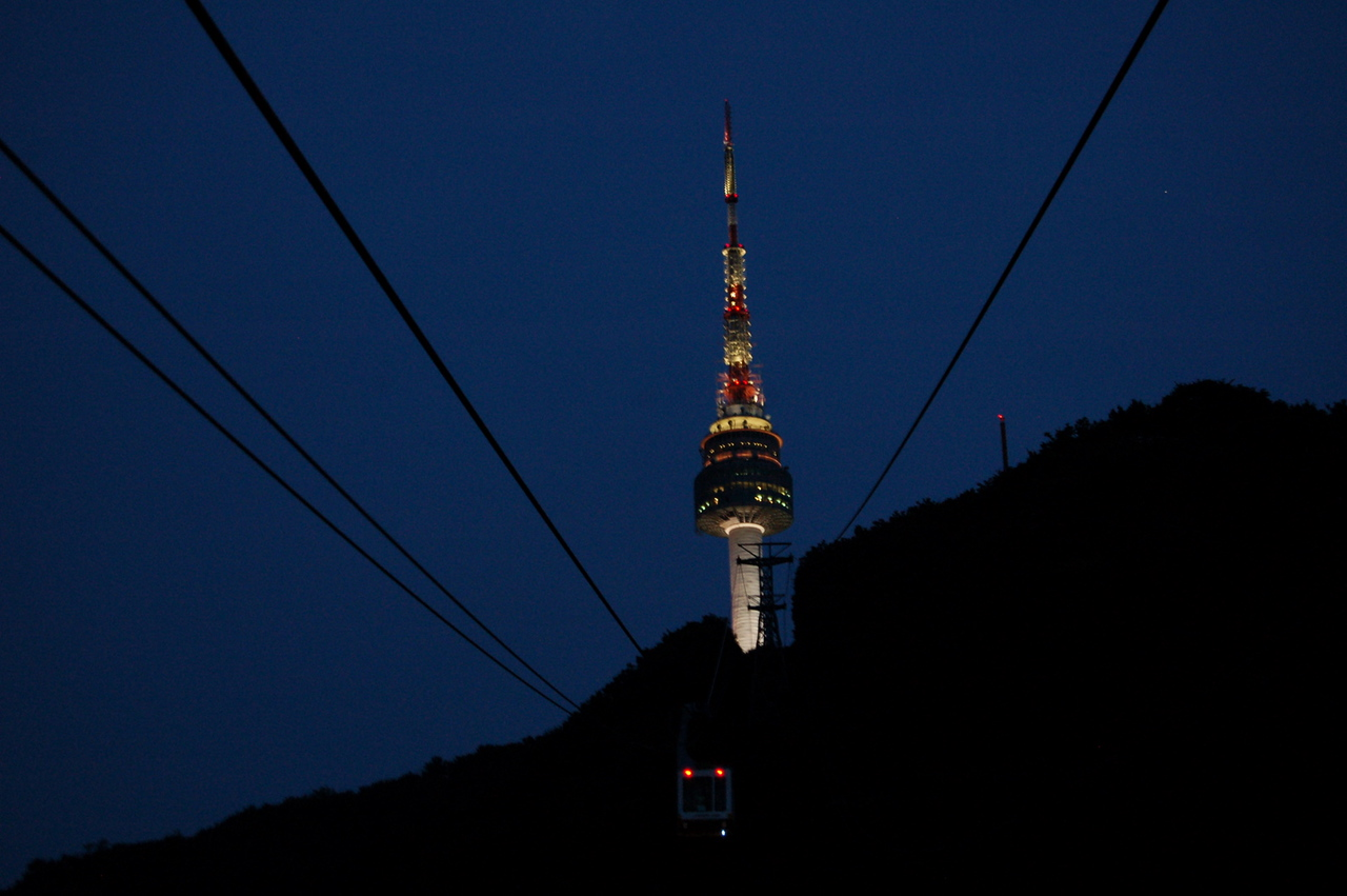 Seoul Tower from cable car
