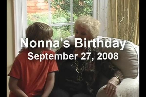 Nonna's Birthday - 2008