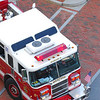 A Medford Fire truck from the Wellington Parking Garage.