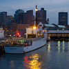The Medium Endurance Cutter USCGC Escanaba docked at its home port in Boston.